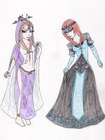 Two totally different types of princesses by ImSoGaga