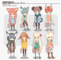 [ADOPTS][ALL SOLD]: HUGE KEMONOMIMI BATCH by Clouver