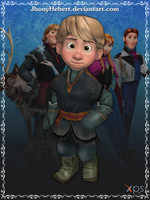 Kristoff (Young) - Frozen Free Fall by JhonyHebert