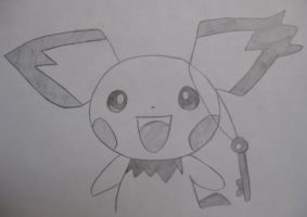 Notched-Ear Pichu by EternASH