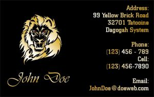 JohnDoe Business Card by CmdrKerner