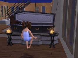 An error in The Sims 2 game by VampireBeautiful