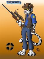 Commission - TF2 Sniper Tiger by Stitchfan