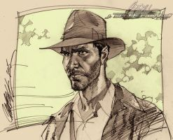 """Raiders"" Indiana Jones by J-Scott-Campbell"