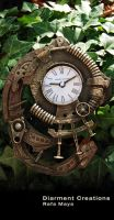 Steampunk Rust Clock by Diarment