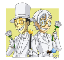 Commission: Dapper in White by forte-girl7