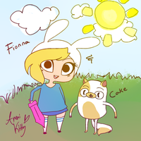 Fionna and Cake by Amai-Kitty