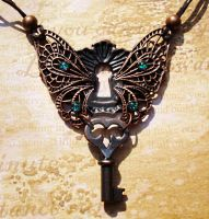 Faerie Door Necklace by LaOubliette