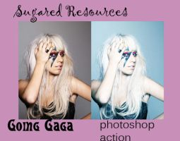 Going Gaga. PHOTOSHOP ACTION by sugaredheart