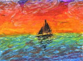 Sunse - Oil Pastel by yorksherpud