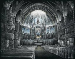 Notre Dame Basilica by AndreaWidgetArt