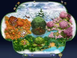 Pixie Hollow Map - Blue Back by an81angel