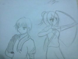 Request by Vio13: OC Kydin and OC Skye by UnitInfinity
