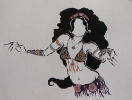 Gypsy Belly Dancer by Contrapposto