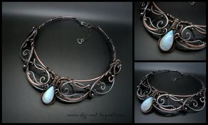 Moon Song Necklace by rodicafrunze