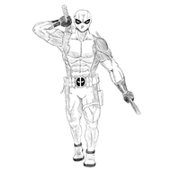 Deadpool Sketch Shaded by Albro1