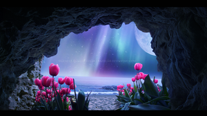 Tulips Island III - Mystic Night by GeneRazART