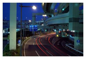 Yokohamas elevated expressways by RobVinc
