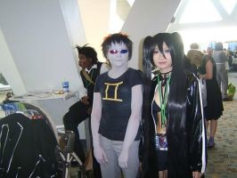 Black Rock Shooter and Sollux by MangaFreak45
