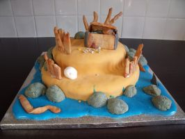 Pirate Island Cake 1 by BevisMusson