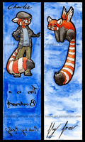 Red Panda Bookmark by hirokiro