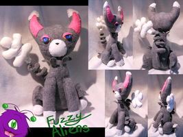 Glameow Plush by FuzzyAliens