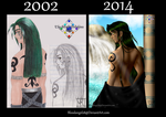 God Osiris: Before and After by BloodAngel28