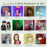 2014 Art Summary by ImAnimeAddict