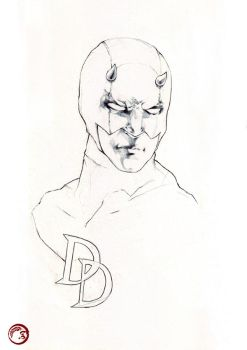 Daredevil Sketch by merkymerx