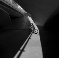 Bicycle under the Bridge by archlover