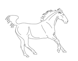 Horse lineart by jessp118