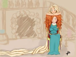 Rapunzel and Merida by DoctorPiper