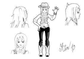 Main character cow-girl by Mirving