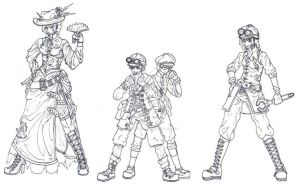 Steampunk Characters by vanna6yaoiheaven