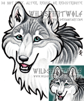 LabradoriteWolf Icon Commish by WildSpiritWolf