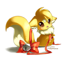 Parupi with ribbon and bell by Jiayi