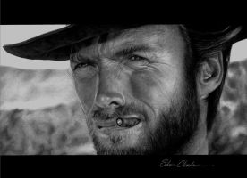 Clint Eastwood by SilvioChiarolanza