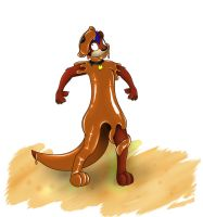 BlueWoozle Commish Otter TF 2 by Fox0808