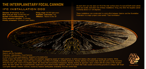Interplanetary Focal Cannon (IFC) Installation by Universe-of-Dusk