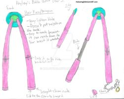 Hayley's Battle outfit: Hair piece weapon. by Halowing