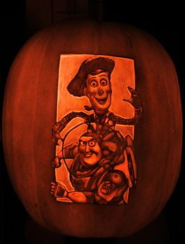 Toy Story3 pumpkin 2010 by qw3323
