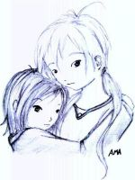 Drawings couple by x-ama