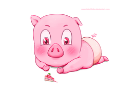 Little piggy by husaria-chan