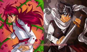 Hiei and Kurama by BreakingSasuke