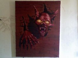 Warewolf_replica on canvas by sacredcross
