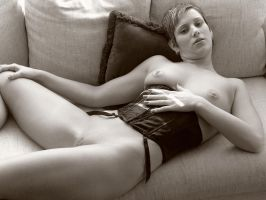 Kats On The Couch No. 4 by Snapfoto