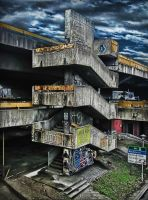 Concrete Stairway by MedaGritzko
