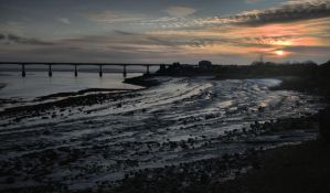 Second Severn crossing from Black Rock. by Oldtoppy