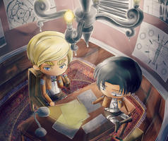 Commission: Snk - Levi and Erwin by nkein