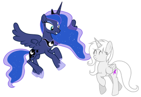 Luna and Nana by JunkiesNewb